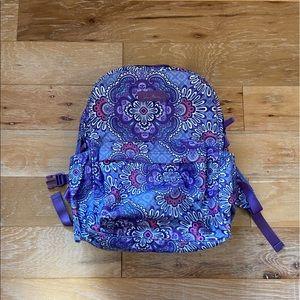Purple Floral Vera Bradley Backpack